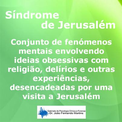 sindrome de jerusalem